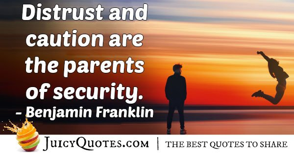 Distrust and Caution Quote