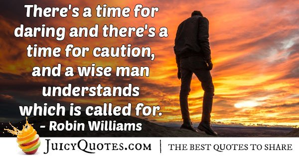 Daring and Caution Quote