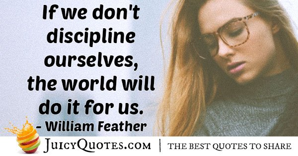 Discipline Ourselves Quote