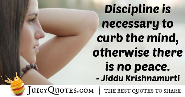 Discipline and Peace Quote