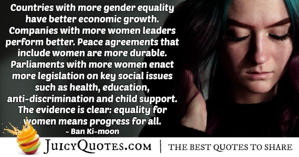 Gender Equality Quotes | Discrimination And Equality Quote With Picture