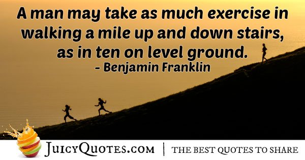 Exercise On Stairs Quote