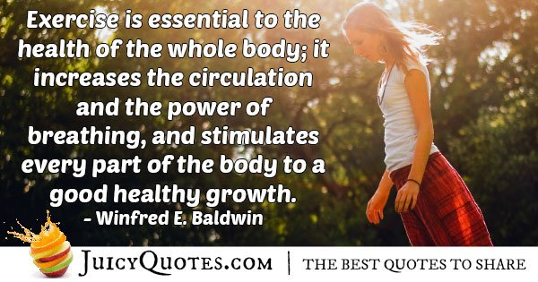 Exercise is Essential Quote