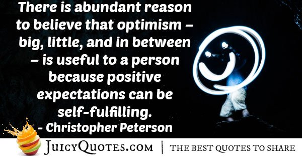 Positive Expectation Quote