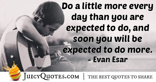 Do More Than Expected Quote