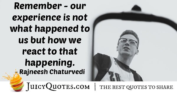 Experience Is Not What Happened Quote
