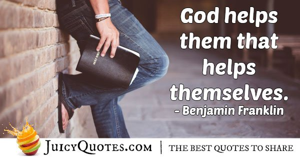God Helps Quote