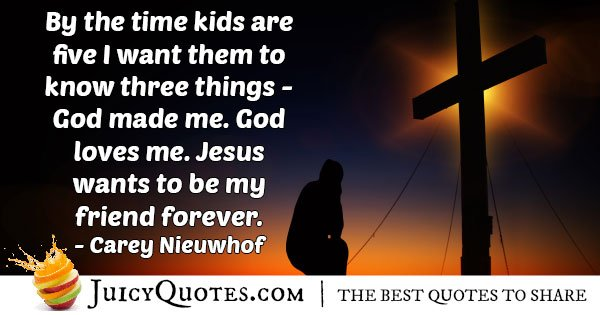 Kids To Know God Quote With Picture
