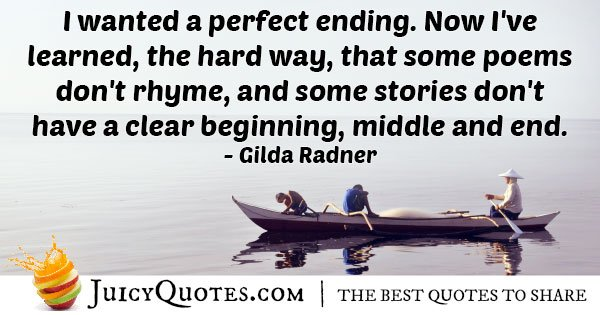Goodbye and End Quote