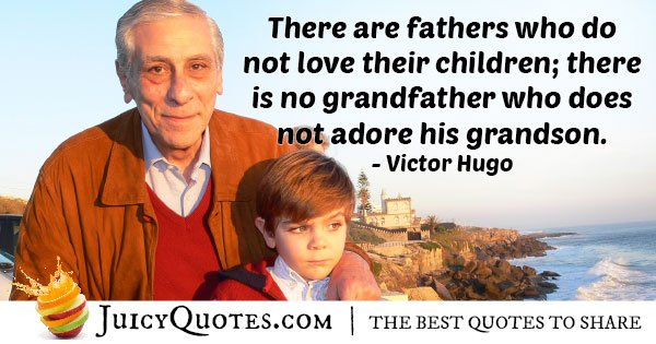 Grandfathers Adores his Grandchild Quote