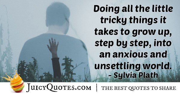 Step By Step Growing Up Quote