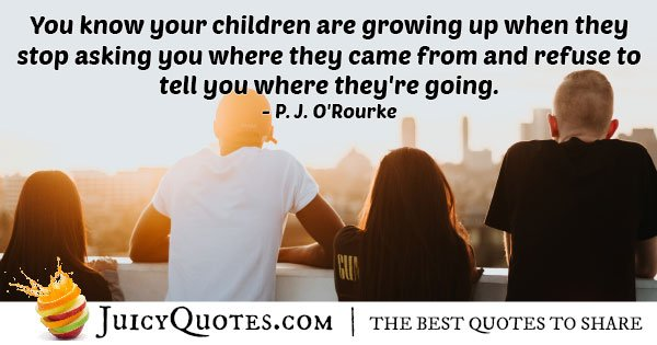 Growing Up Children Quote