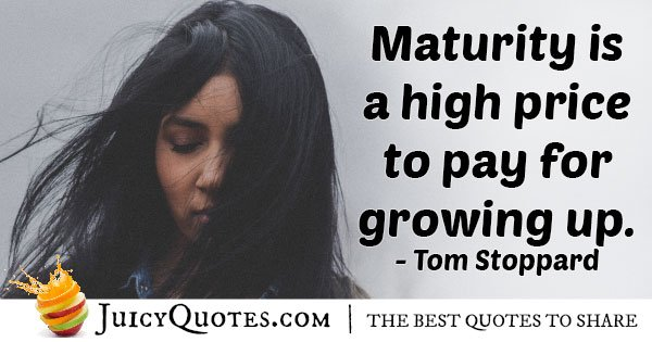 Maturity Growing Up Quote