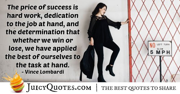 Success is Hard Work Quote