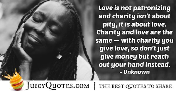 Helping People with Love Quote