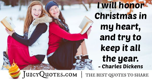Honor Christmas Holiday Quote