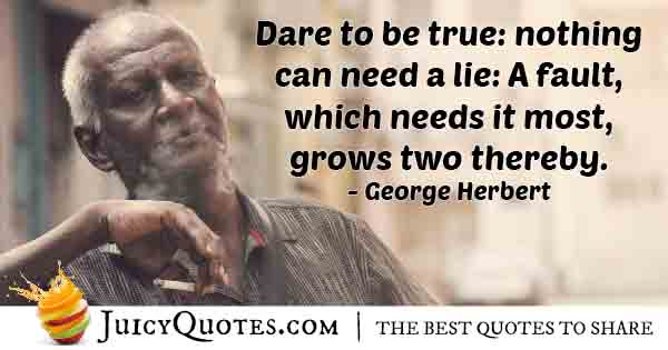 Dare to Be Honest Quote