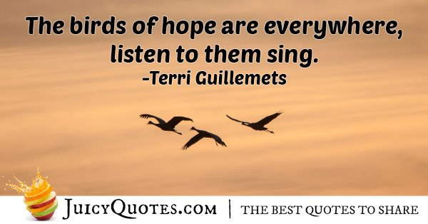 Birds of Hope Quote