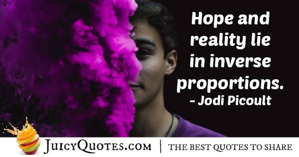 Hope and Reality Quote