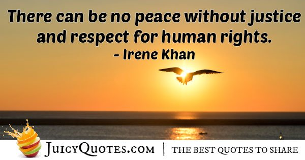 Without Human Rights Quote