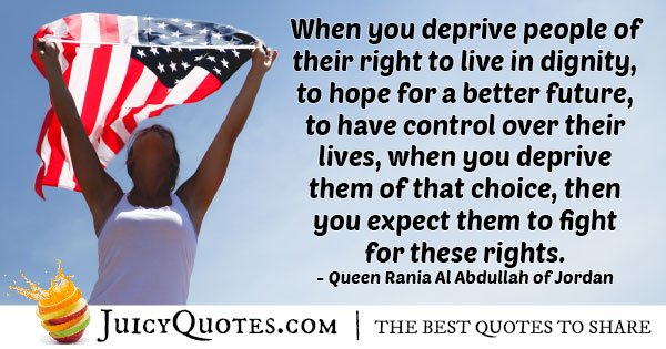 Deprive Human Rights Quote