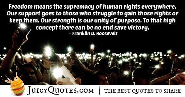 Supremacy Human Rights Quote
