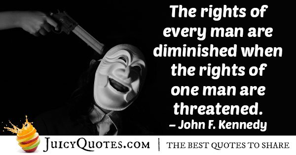 Human Rights Threatened Quote