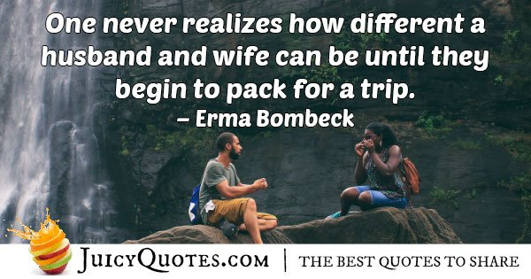 Husband and Wife Trip Quote