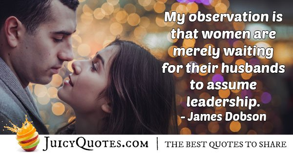 Husband Assume Leadership Quote