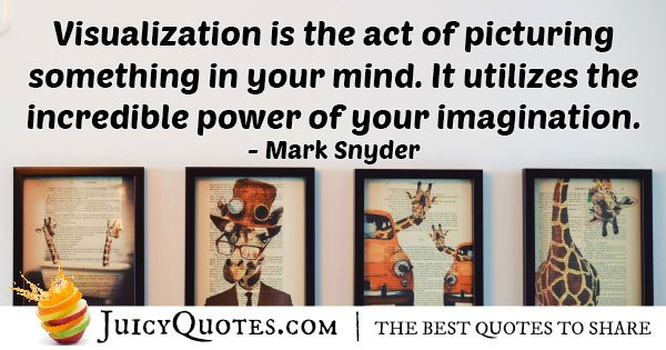 Imagination and Visualization Quote