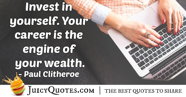 Investment In Yourself Quote