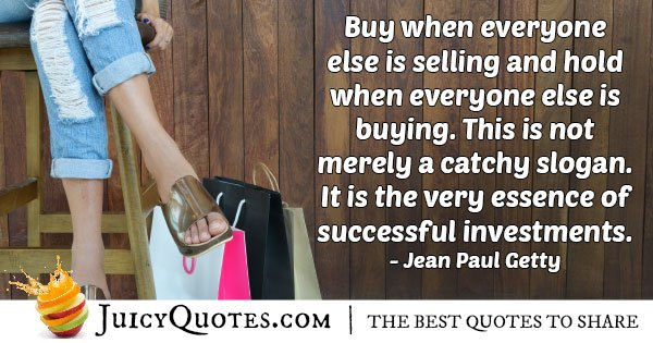 Buy and Sell Investment Quote