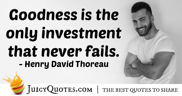 Investment Goodness Quote