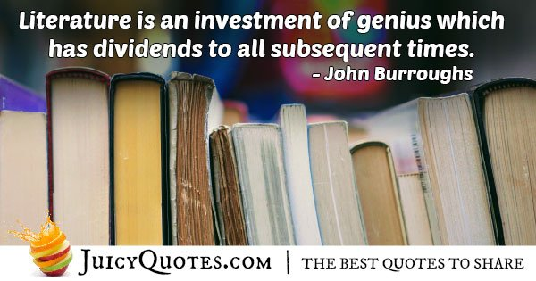 Investment in Literature Quote