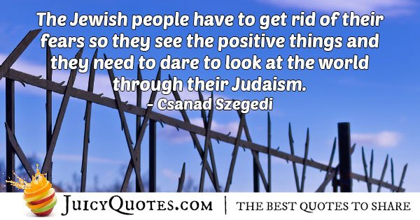 Judaism and No Fear Quote