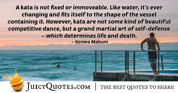 Karate is an Art Quote