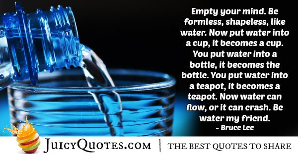 Water And Karate Quote With Picture