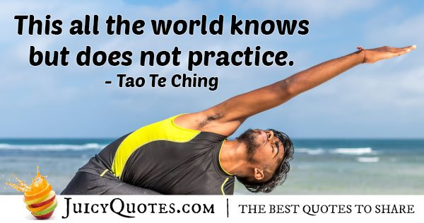 Karate VS no Practice Quote