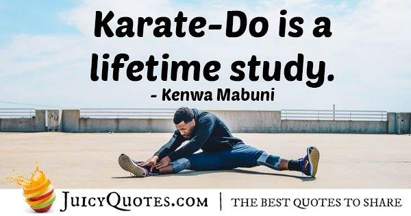 Karate a Lifetime Study Quote