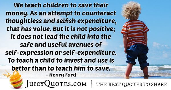 Kids To Save Money Quote