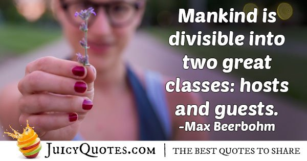 Two Classes Of Mankind Quote