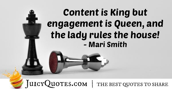 Marketing King And Queen Quote With Picture