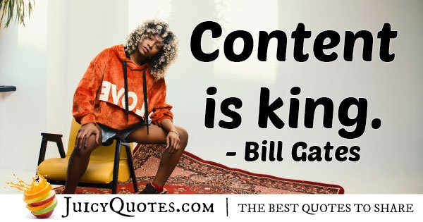 Marketing King Content Quote