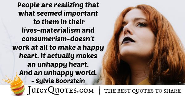 Materialism VS Happiness Quote