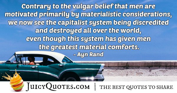 Materialism and Capitalism Quote