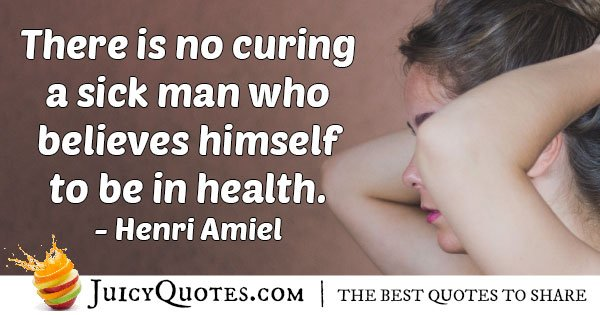 No Medicine Cure Quote