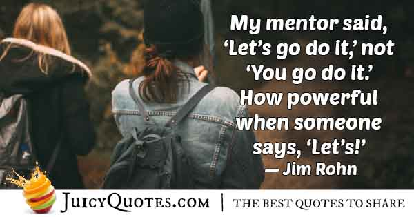 Mentor and You Quote