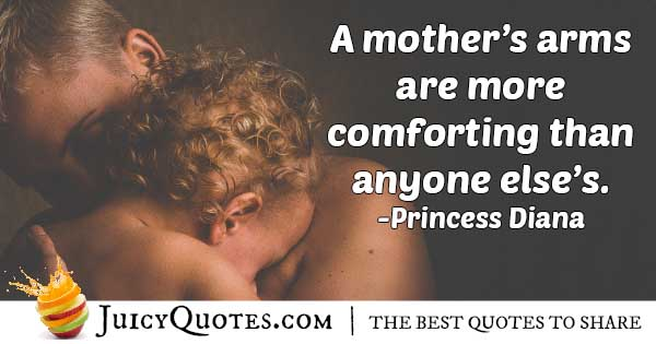 Mom's Arms Quote