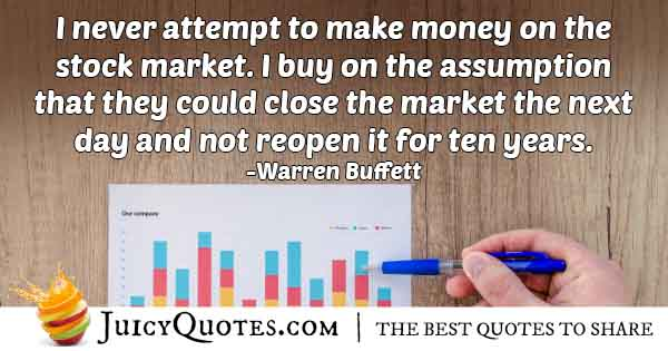 Money Invested Long Term Quote