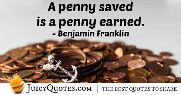 Money and Pennies Quote